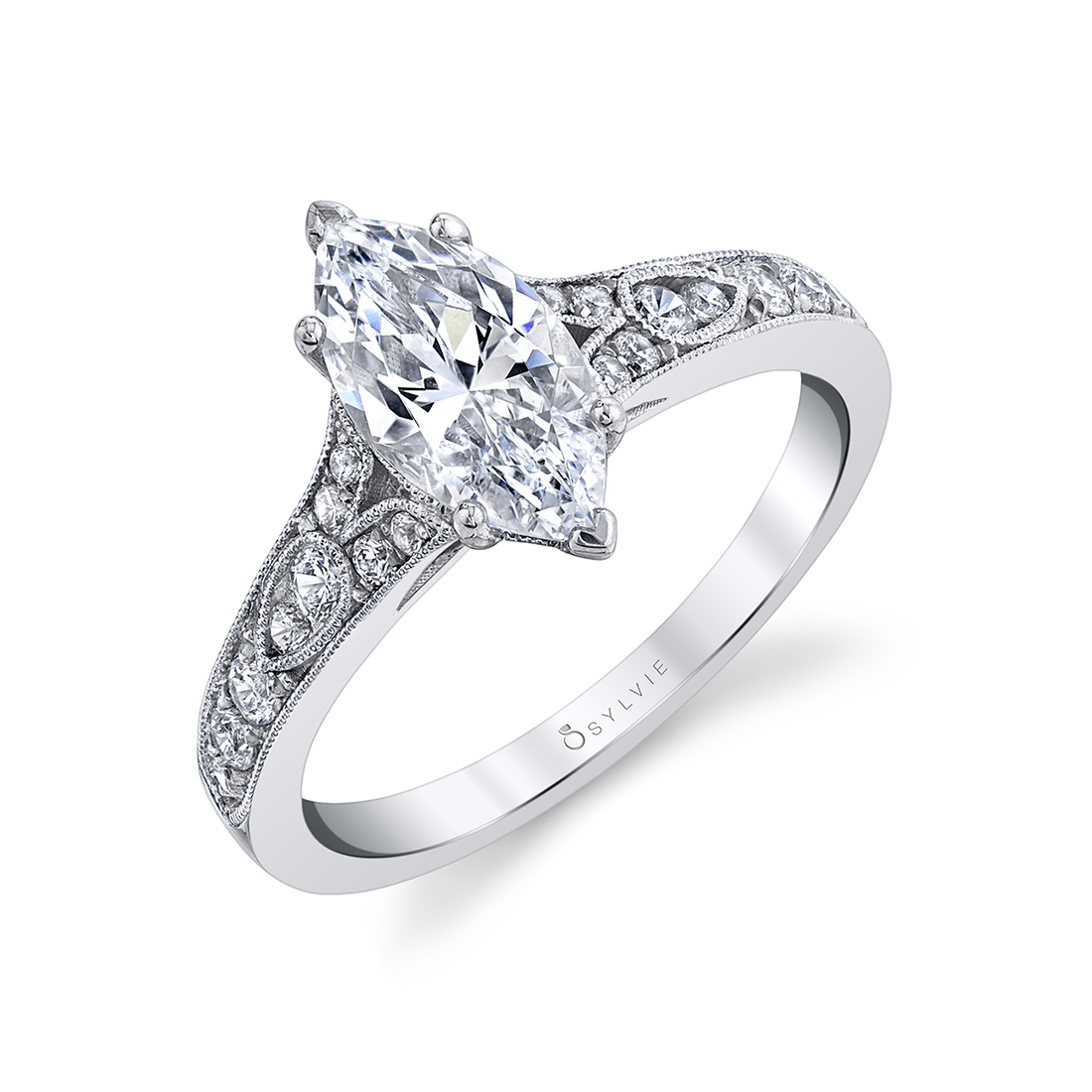 marquise engagement ring sylvie S1389-MQ