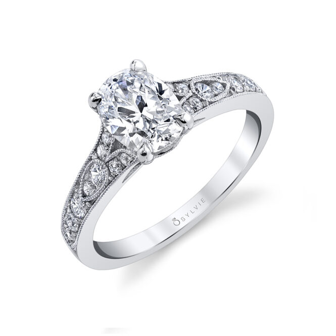 oval engagement ring sylvie S1389-OV