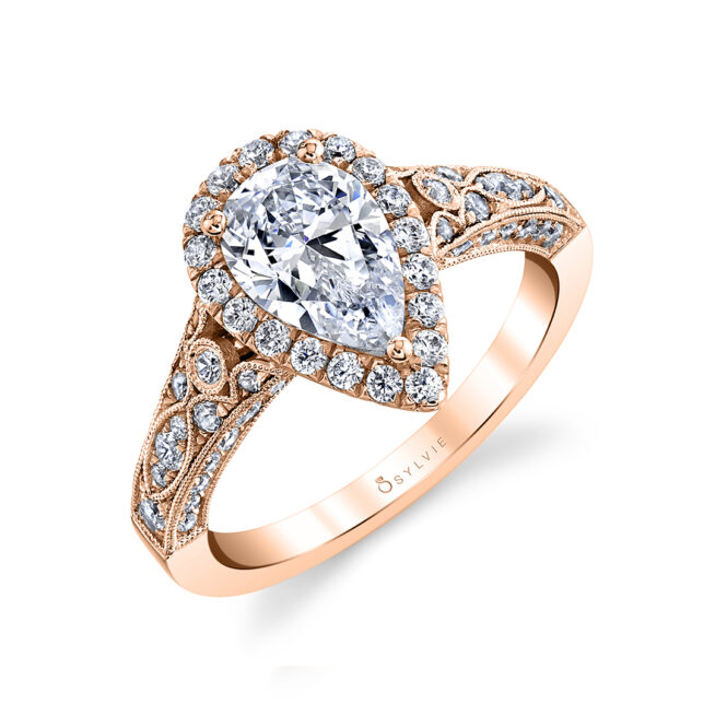 pear shaped engagement ring sylvie
