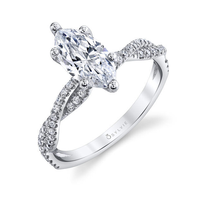 marquise engagement ring sylvie S1523-MQ
