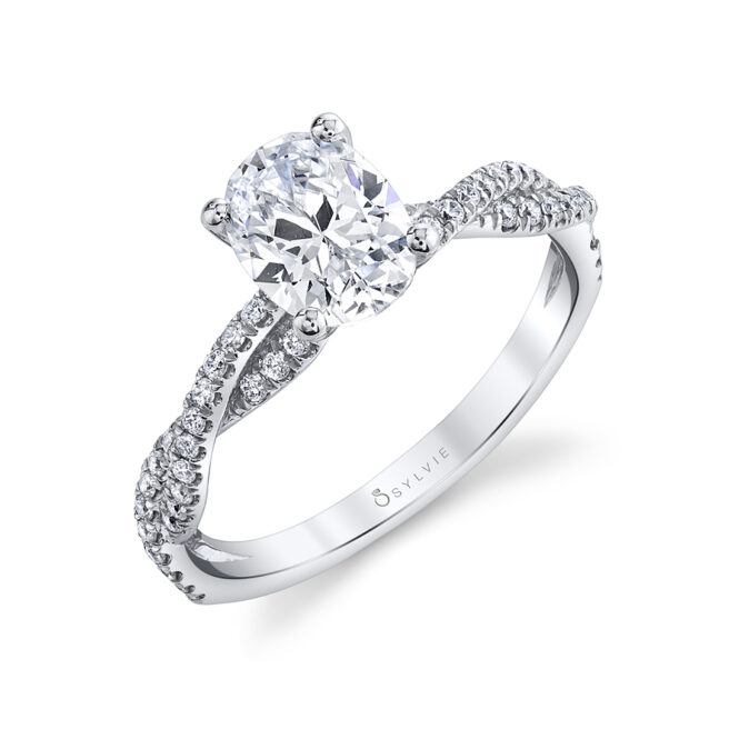 oval engagement ring sylvie-
