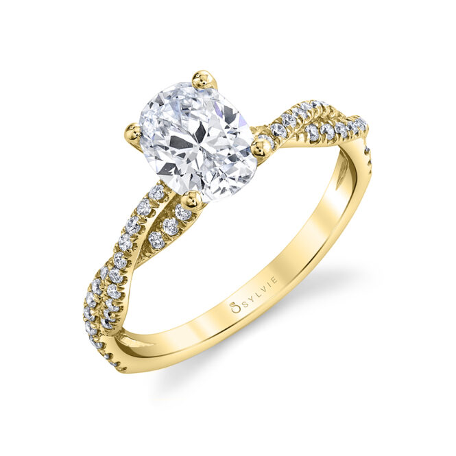 oval engagement ring sylvie