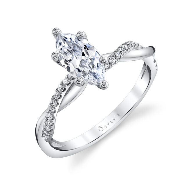 marquise engagement ring sylvie S1524-MQ