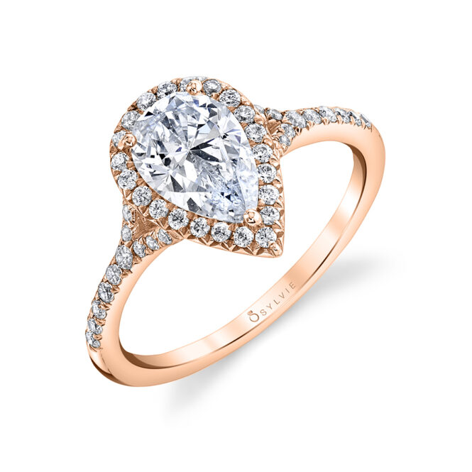 pear shaped engagement ring sylvie S1814-PS-RG