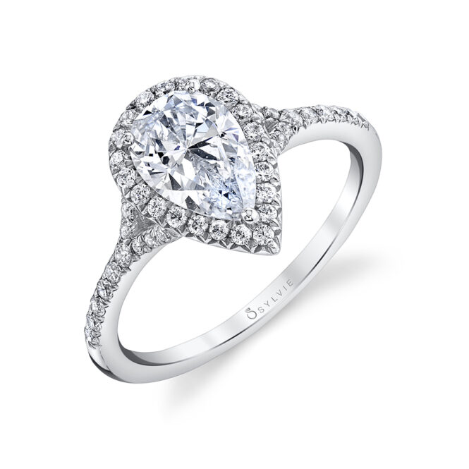 pear shaped engagement ring sylvie S1814-PS