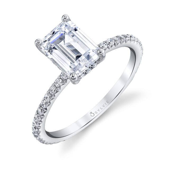 emerald cut engagement ring sylvie