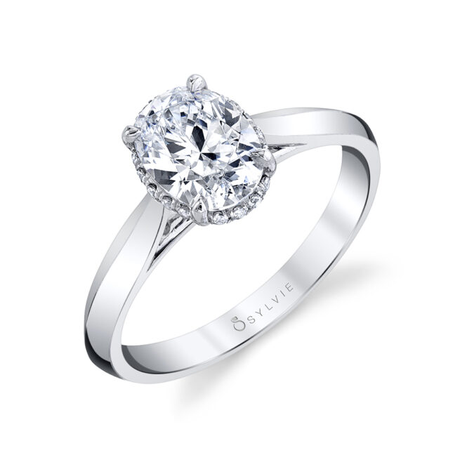 oval engagement ring sylvie S2500-OV
