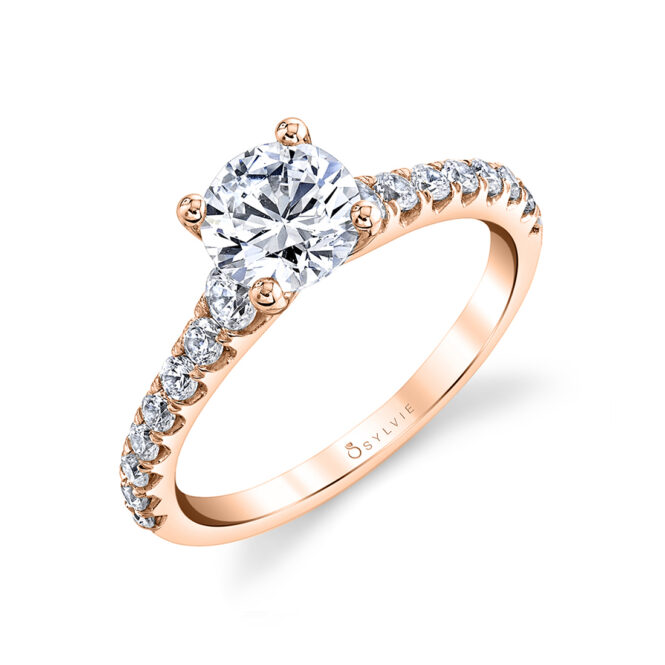 solitaire engagement ring sylvie S2560-RG