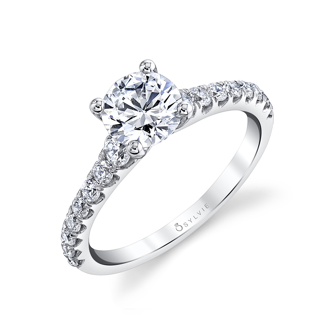 solitaire engagement ring sylvie