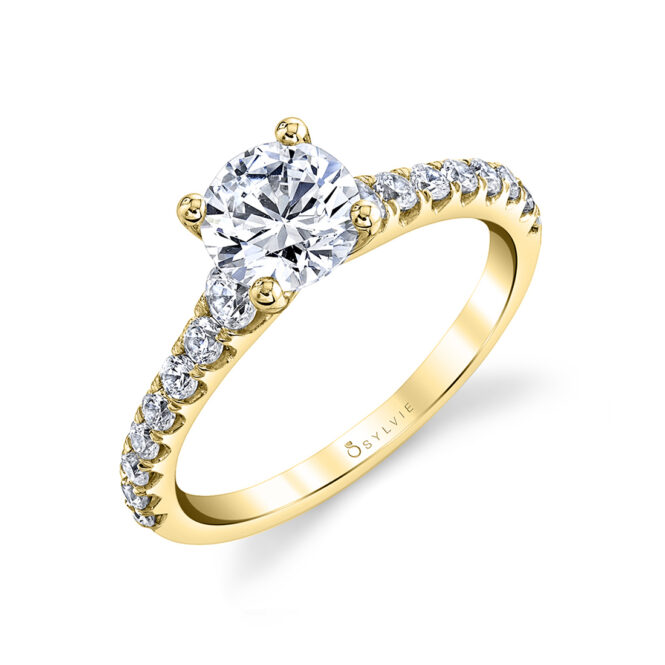 solitaire engagement ring sylvie S2560-YG