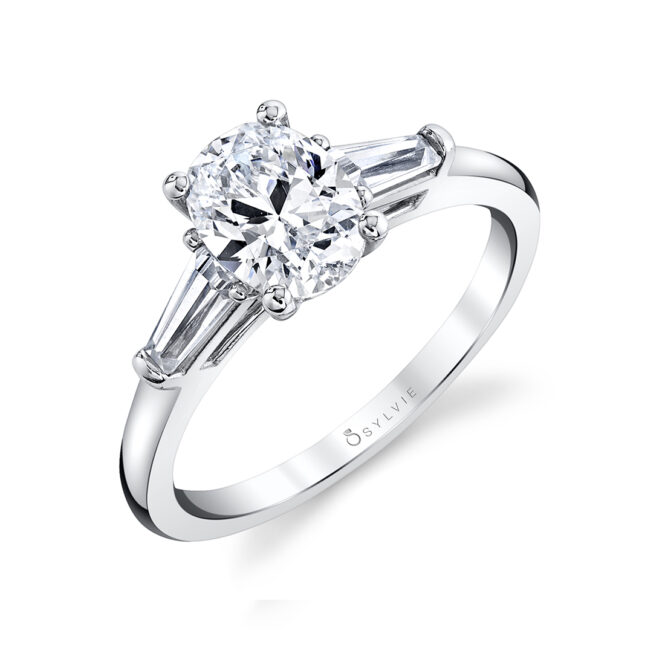 three stone engagement ring S3012-OV