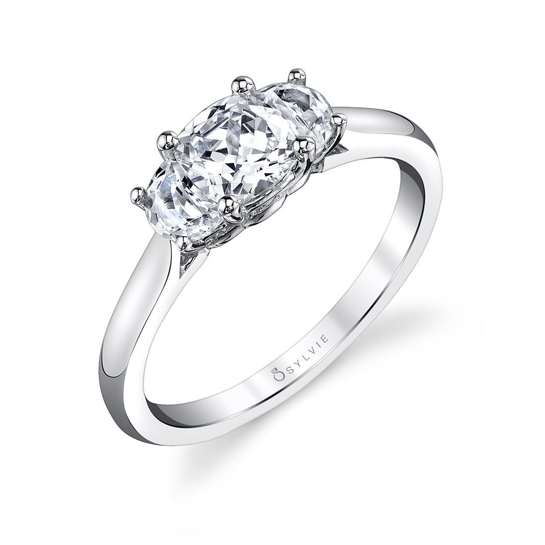 profile image of a three stone engagement ring