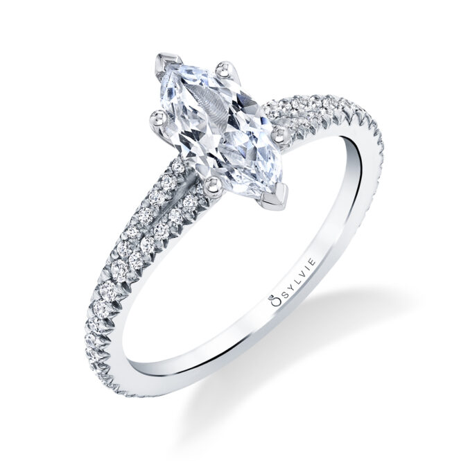 Marquise Engagement Ring S1700-MQ-WG-Sylvie in White Gold