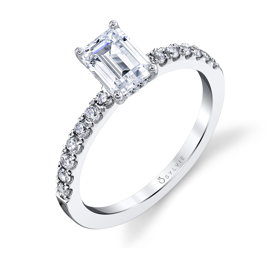 Emerald Cut Engagement Ring-