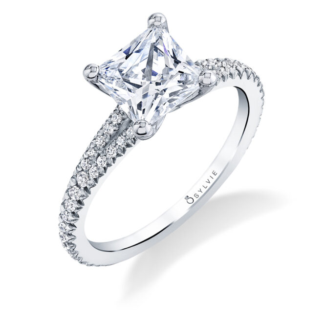 princess cut engagement ring lvie