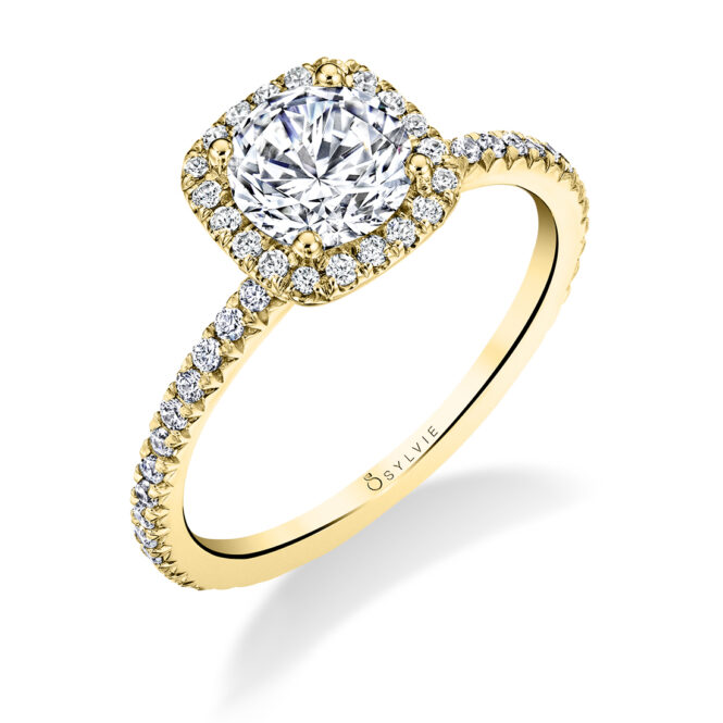 halo engagement ring S1793-RB-CH-YG-Sylvie
