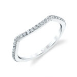 contoured wedding band in white gold