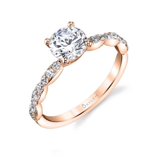 Simple Classic Engagement Ring in Rose Gold - Chiara