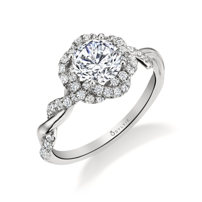 Spiral Engagement Ring - Sylvie