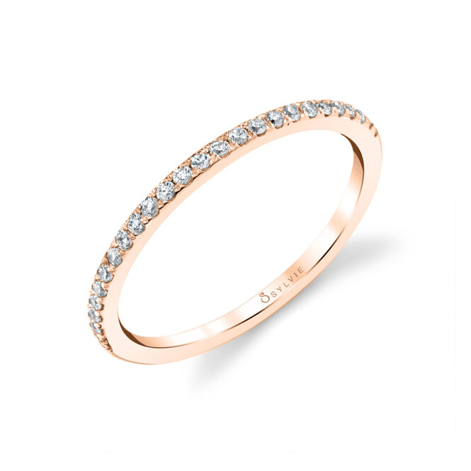 Thin Wedding Band in Rose Gold