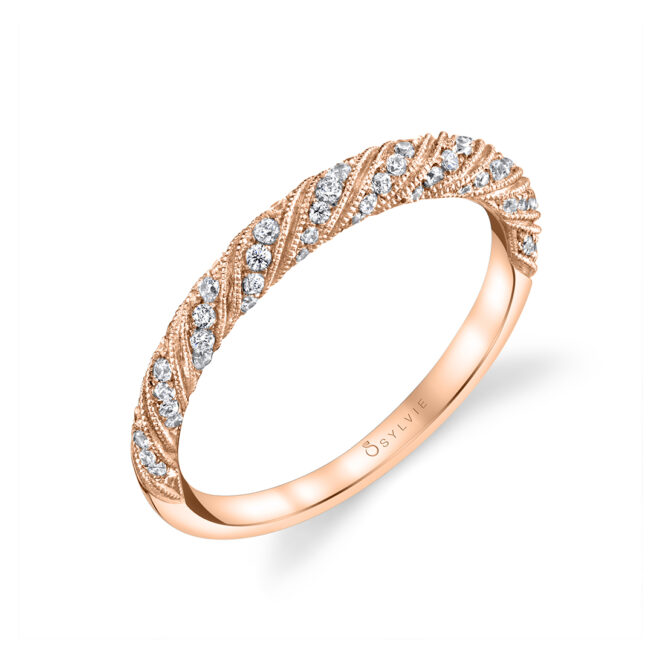 Unique Engagement Ring in Rose Gold