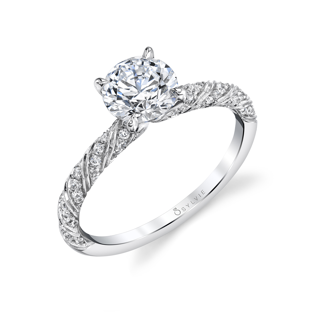 Side view of a Unique engagement ring