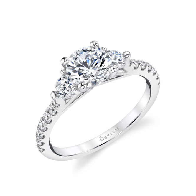 Stuller Three Stone Side Stones: 3 Stone Engagement Ring With Side Stones
