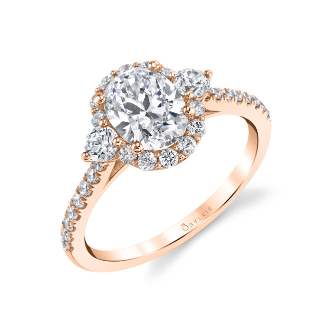 3 Stone Oval Engagement Ring S1959S-RG