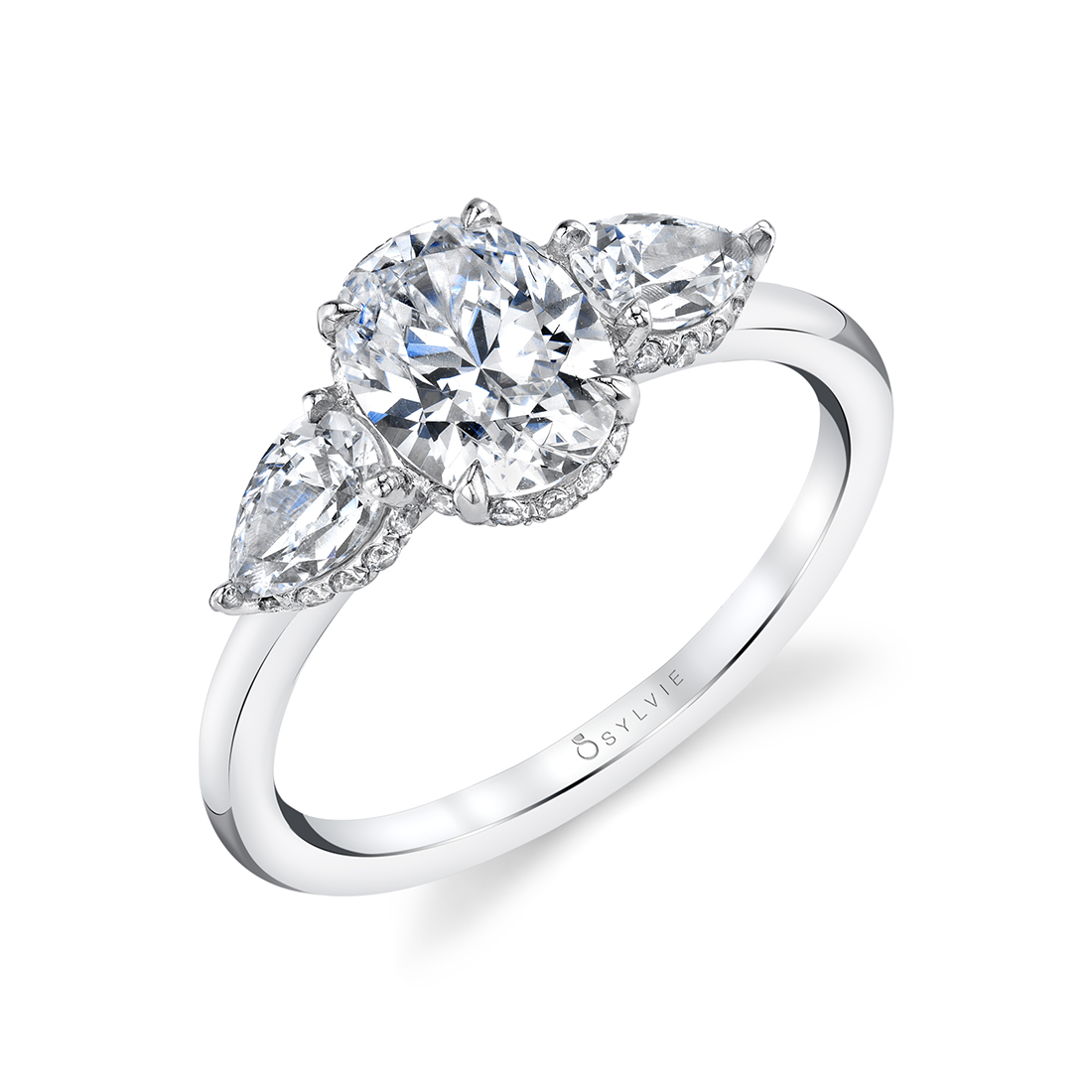 3 stone oval engagement ring S1964S-WG
