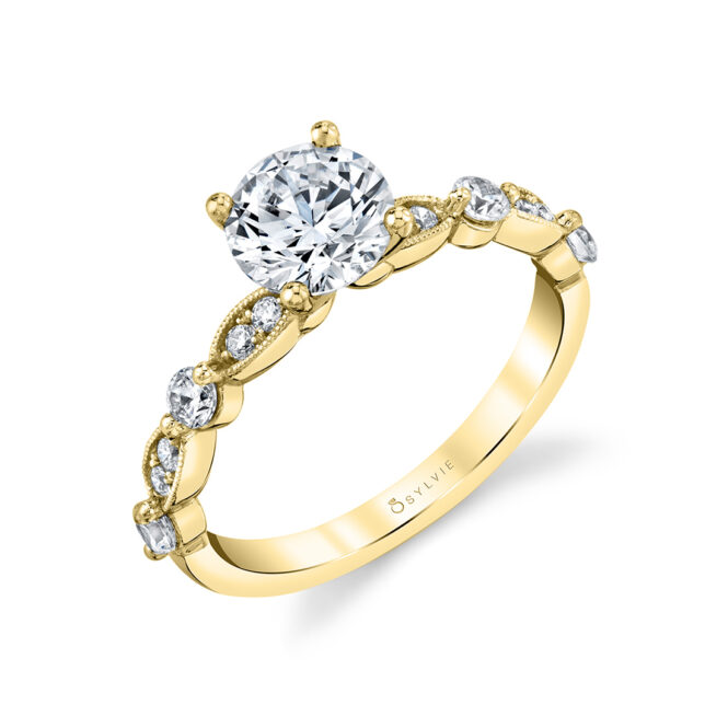 Antique Style Engagement Ring - Florence