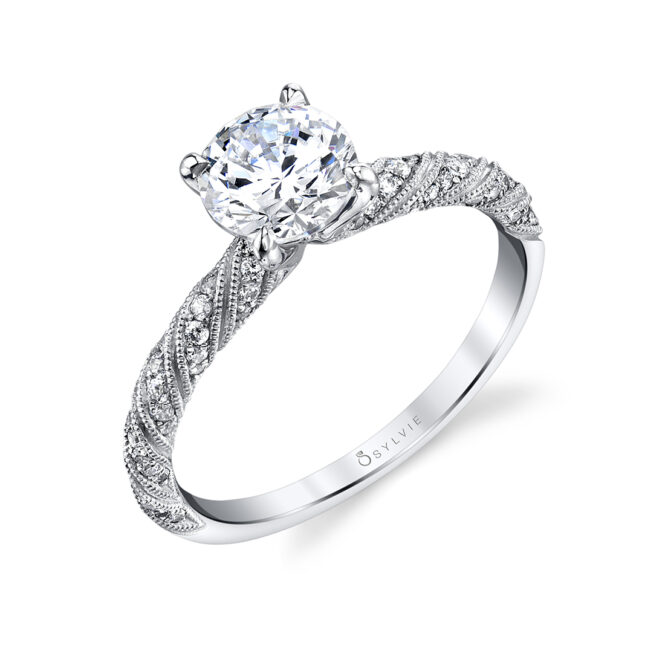 Beautiful unique engagement ring S1855-WG