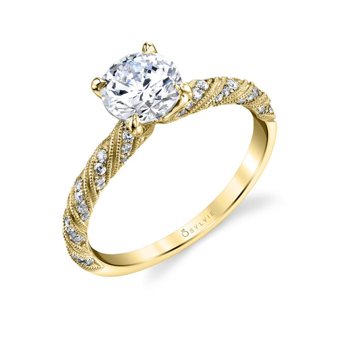 Beautiful unique engagement ring S1855-YG