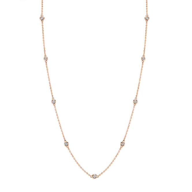 Diamonds by the Yard Necklace - DBY1-RG - Sylvie