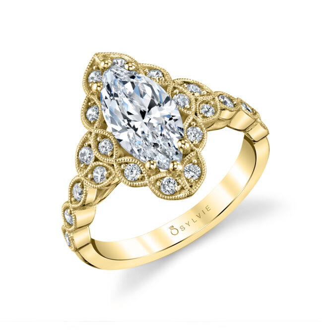 Flower Engagement Ring - Jori