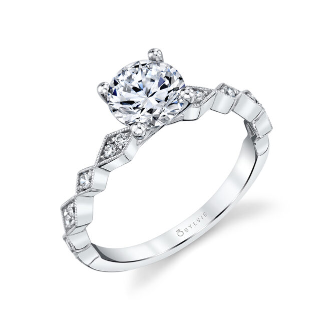 Modern Engagement Ring - Darcy