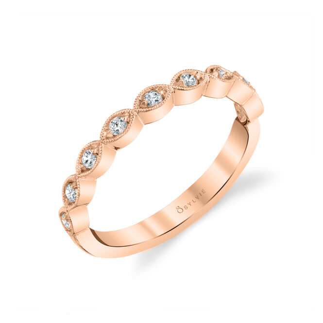 Stackable Diamond Ring in Rose Gold
