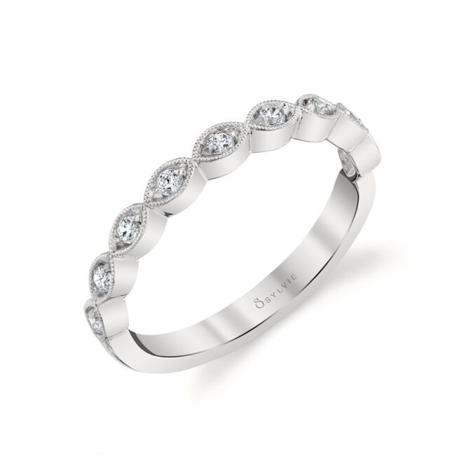 Stackable Diamond Ring in White Gold