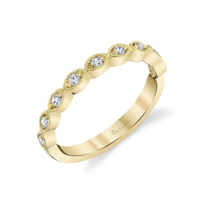 Stackable Diamond Ring in Yellow Gold