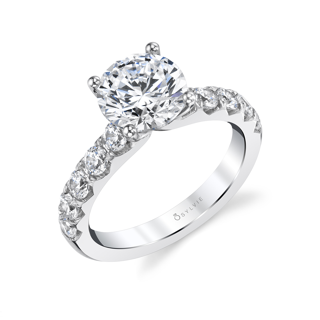 engagement rings with wide bands by Sylvie