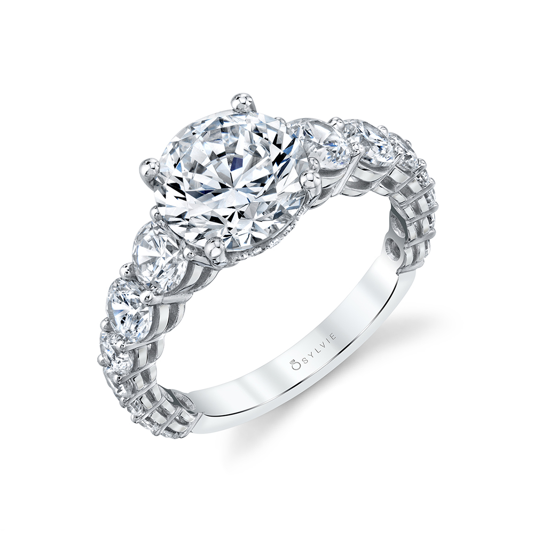 This is a photo of Engagement Ring with Extra Wide Band Lavinia Sylvie Collection