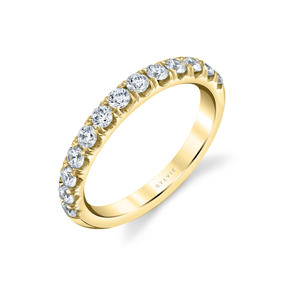 This is a graphic of Wide Wedding Band Adoria Matching Band Sylvie Collection