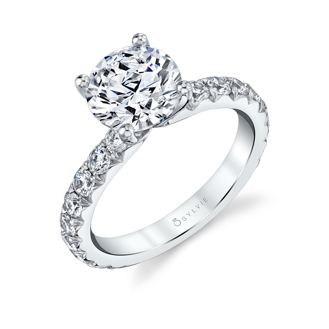 side view of a Wide Band Engagement Ring - Marlise