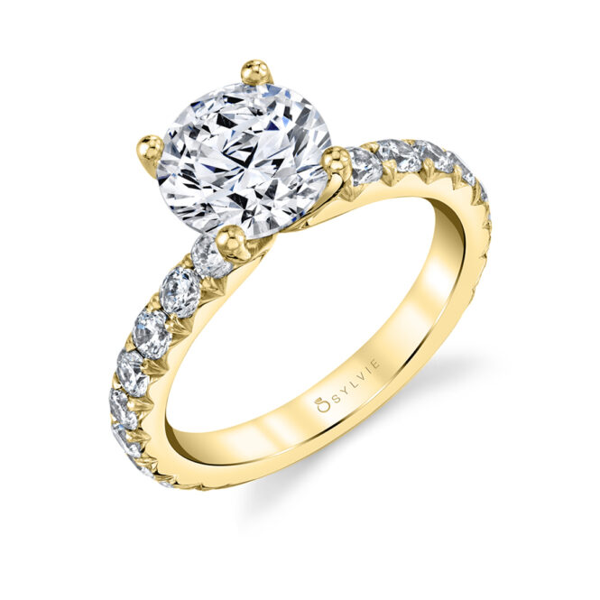 Wide Band Engagement Ring - Marlise