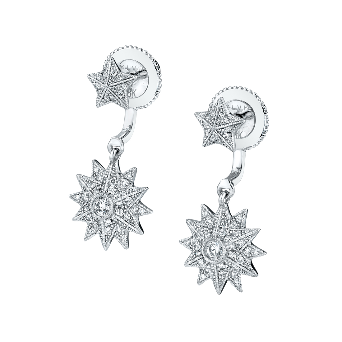 Star Shaped Peekaboo Earrings