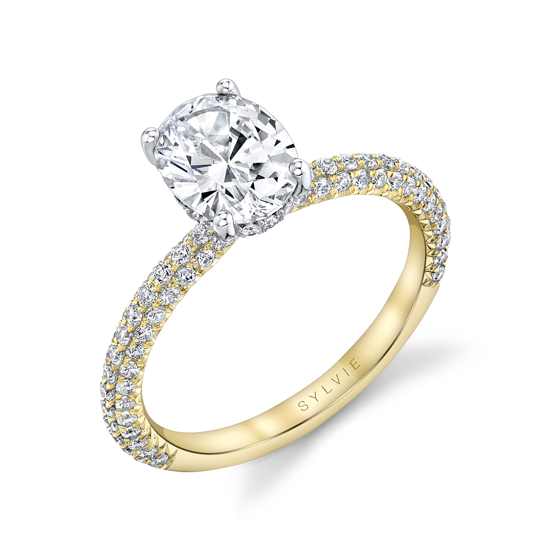 Two Tone Oval Engagement Ring- OVlvie
