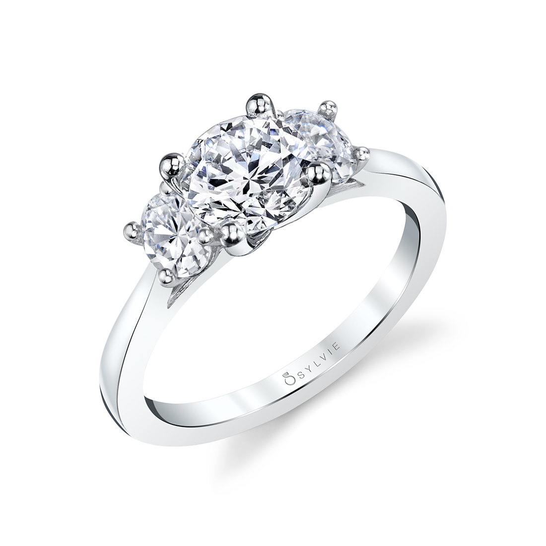 3 Stone Ring with Oval Side Stones_lvie