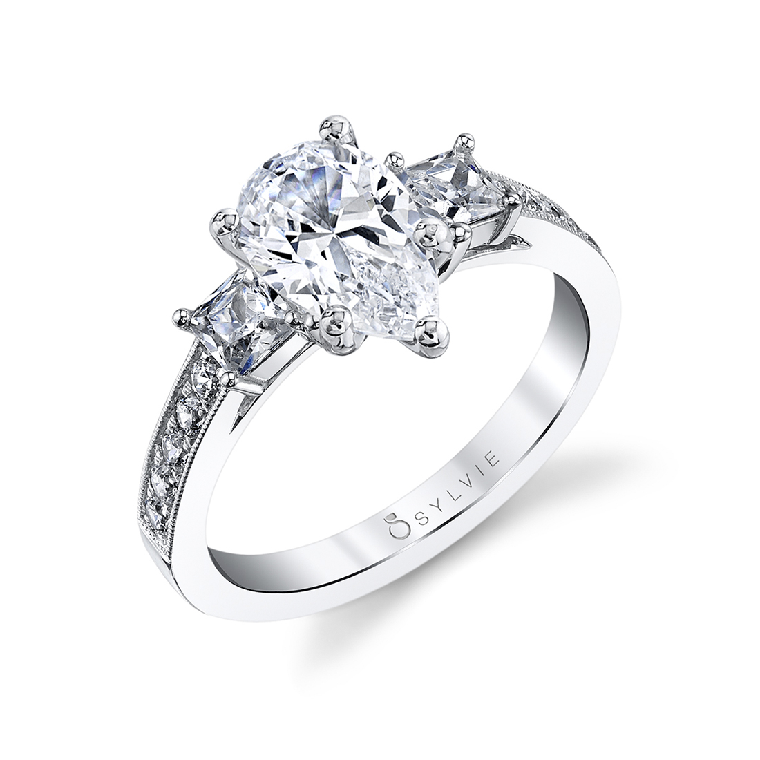 pear shaped engagement ring-S1217-PS-Sylvie