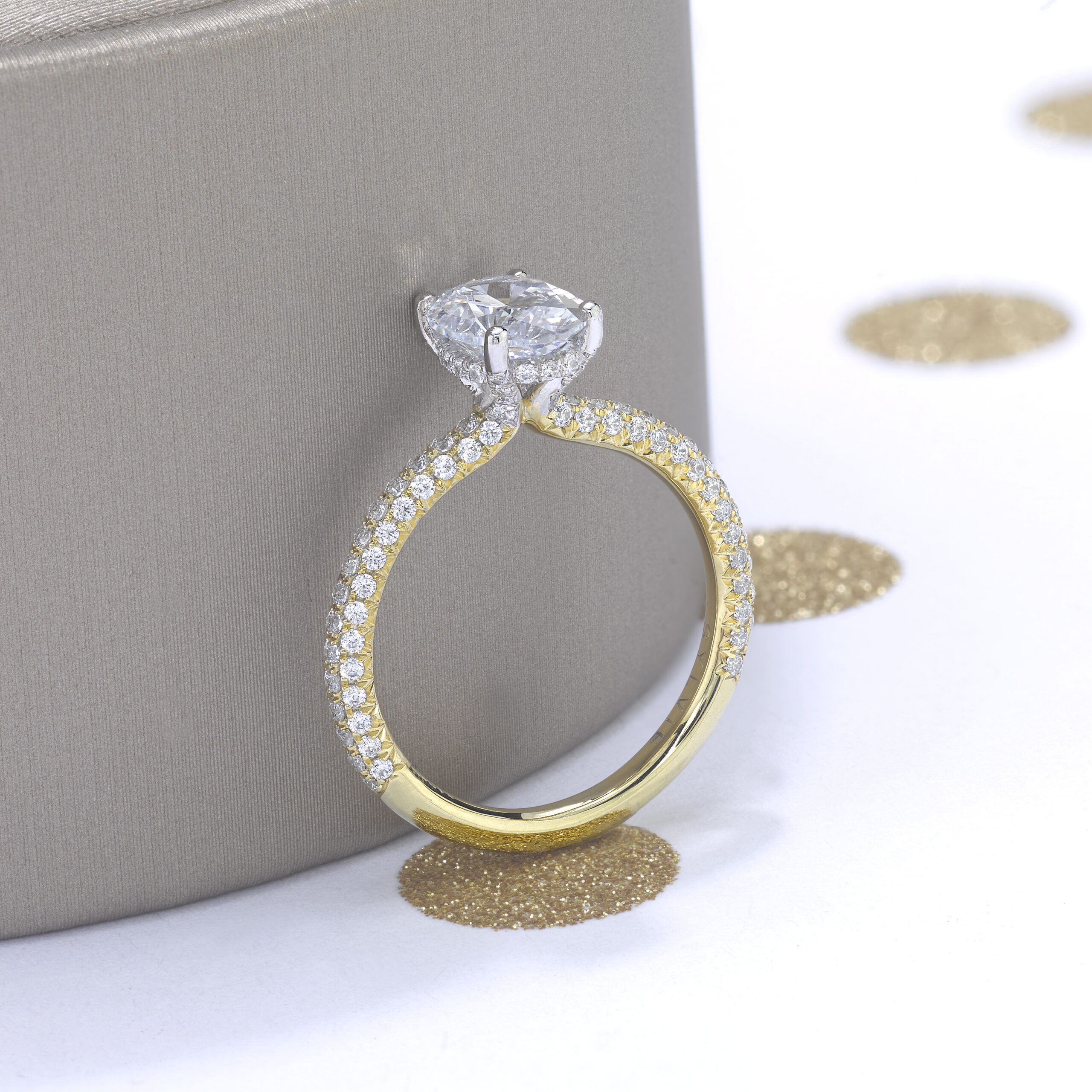 classic oval engagement ring
