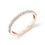 baguette diamond wedding band in rose gold