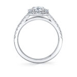 profile image of a unique oval engagement ring